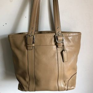 Coach shoulder bag - Tan Leather